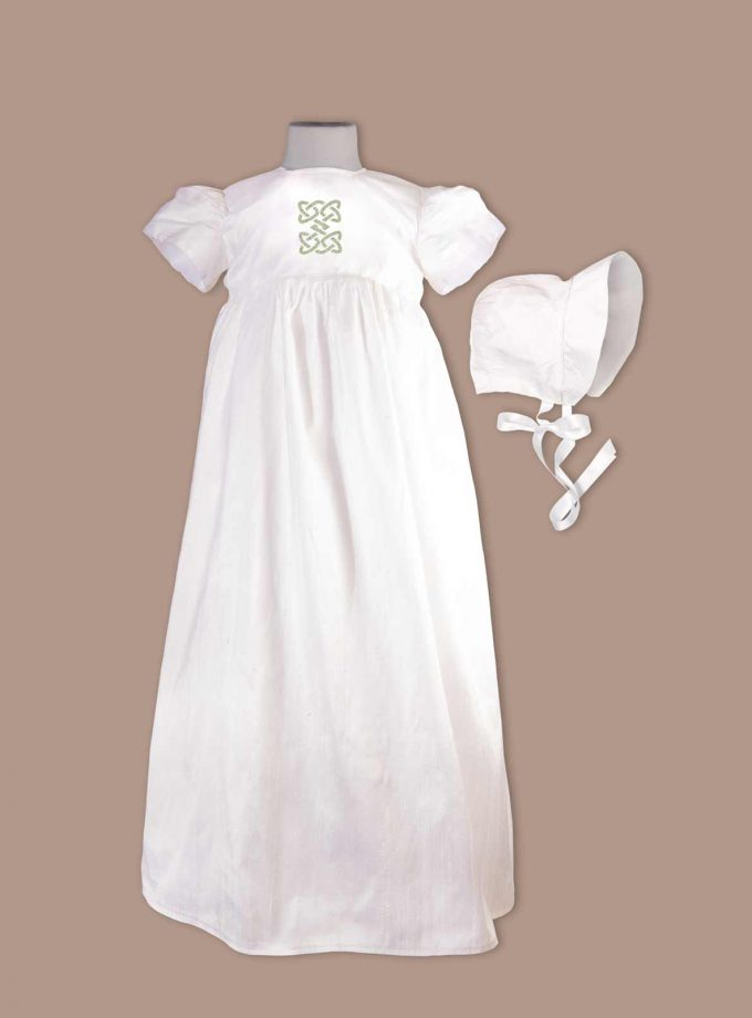 irish christening gown with bonnet